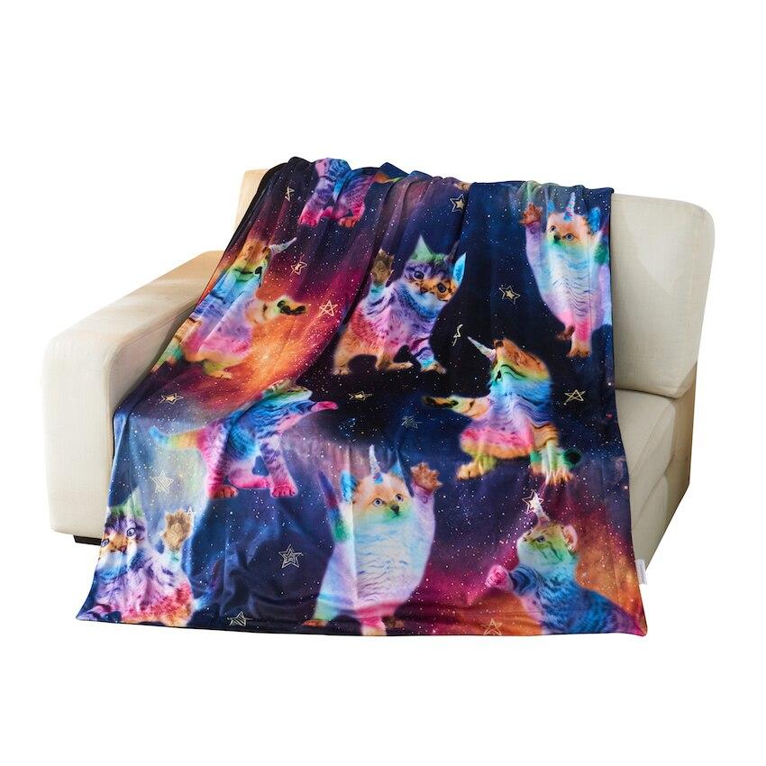Черный Kittycorns роскошно мягкое одеяло полиэстер велюр