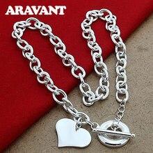 Colliers avec pendentifs en forme de cœur en argent 925, bijoux de luxe pour femmes, mariage