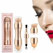 Hot Sell 4 In 1 Rose gold  Makeup Tool Foundation Eyebrow Eyeliner Blush Powder  Cosmetic Concealer Professional Makeup Brushes megaga 278 2 professional 7 in 1 cosmetic makeup brushes set deep gold