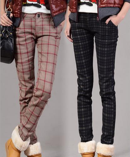 Womens Plaid Dress Pants - Pi Pants