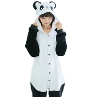 Kung Fu Panda Bear Pajamas Onesie For Women Lady Adults Men Teenagers Winter Warm Nightgown Pijamas