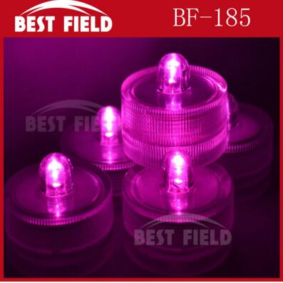 48 шт./лот беспламенного свеча свет погружной водостойкий светодиодная свеча-таблетка огни батарея работает Свадебная ваза - Цвет: pink