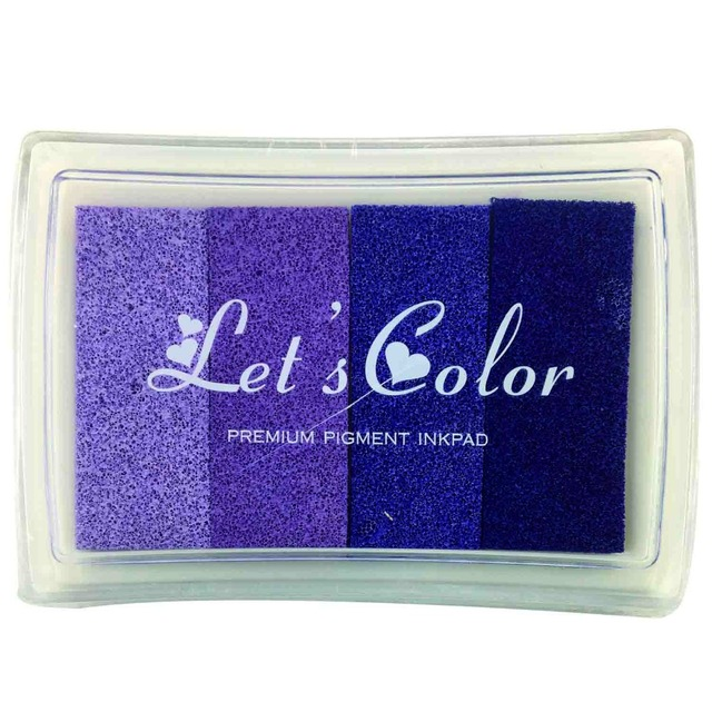 4 in 1 Colors Cardmaking Stamping Pigment Inkpad