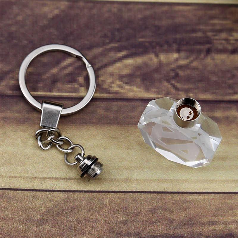 Jeu film Dota 2 porte-clé LED Dota 2 personnages tout étoile porte-clés anneau avec boîte cadeau pour les Fans cristal brillant porte-clés