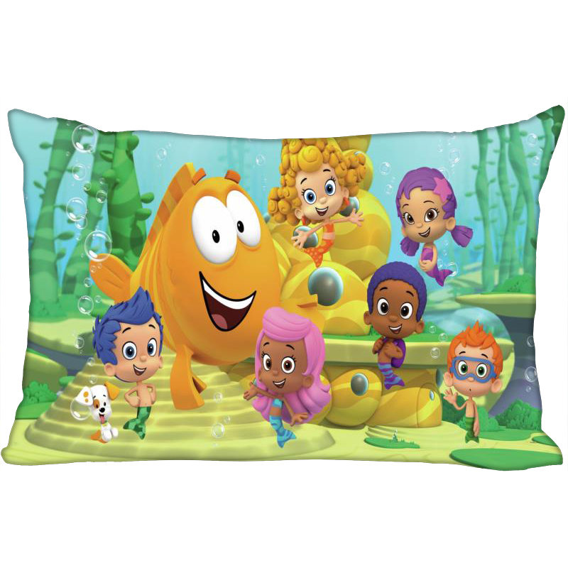 Bubble Guppies Pillowcase Rectangle Zipper Pillow Throw Pillow Case Cover 45x35cm (One Side) Printed Decorative Pillowcase