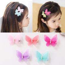 5 szt lot Candy Color Bow Butterfly spinki do włosów dziewczyny uchwyty do włosów Kids hairpin nakrycia głowy moda akcesoria PC003 tanie tanio Headwear Octan PC003AB Dzieci Hairpins Stałe