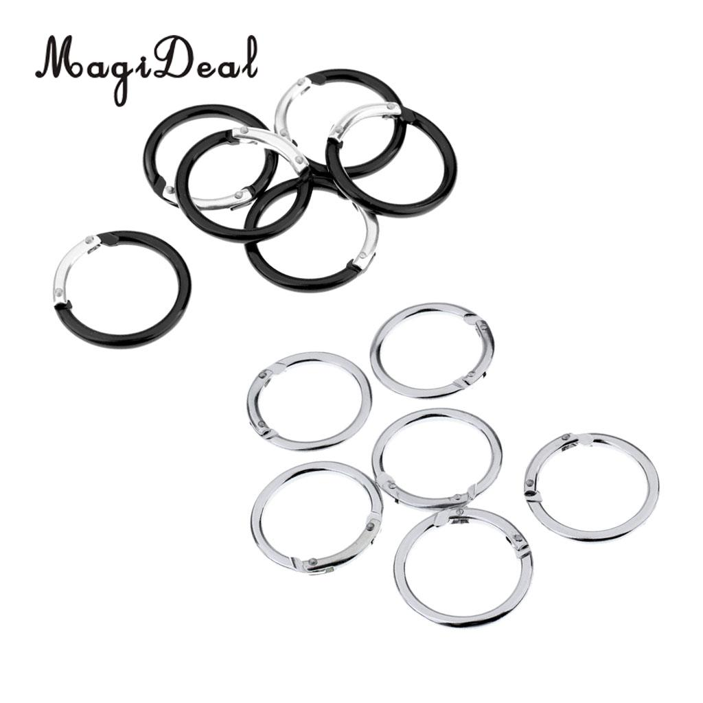 12 Pieces Round Aluminum Spring Snap Clip Hook Keychain
