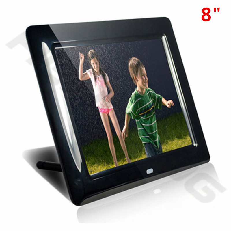 new fashion 8 inch mini digital photo frame sd card photo music video clock calendar best gift