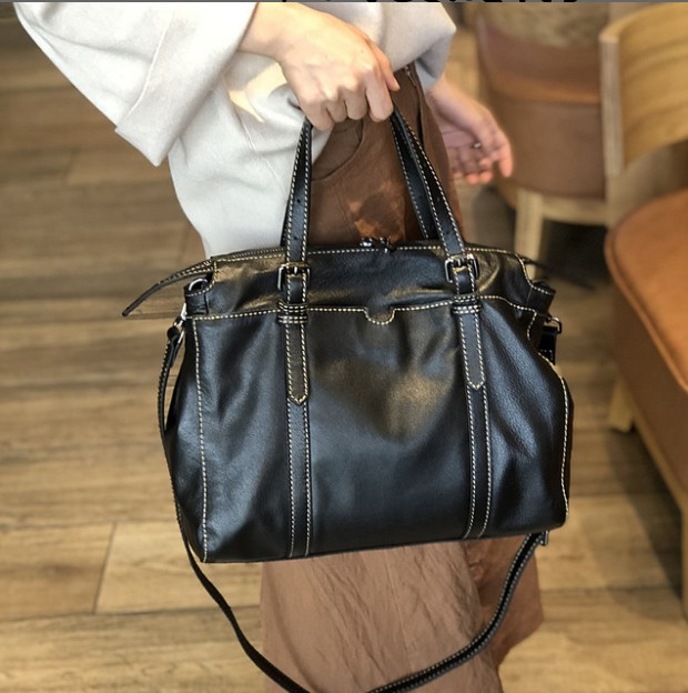 Bag Female Women s 100 Genuine Leather Bags Handbags Crossbody Bags For Ladies Leather shoulder Large