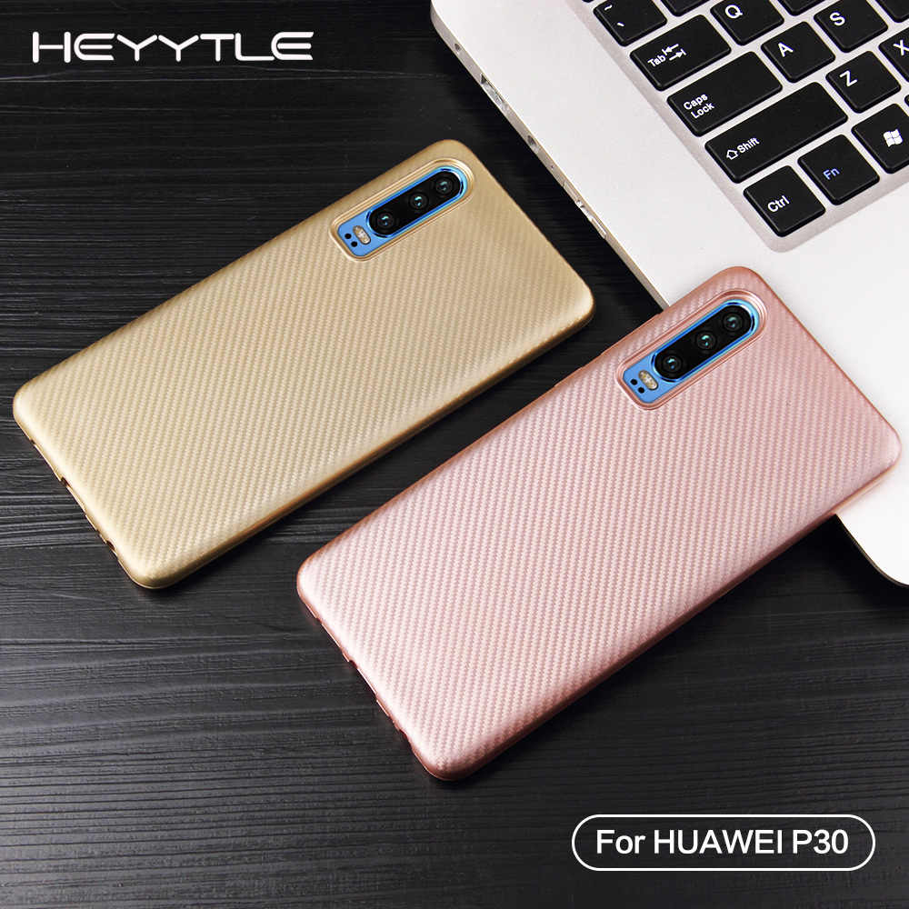 Heyytle Ultra Thin Carbon Fiber Case For Huawei P smart P20 P30 Pro Mate 20 10 Lite Case Soft TPU Cover Nova 3 Shock Case Fundas