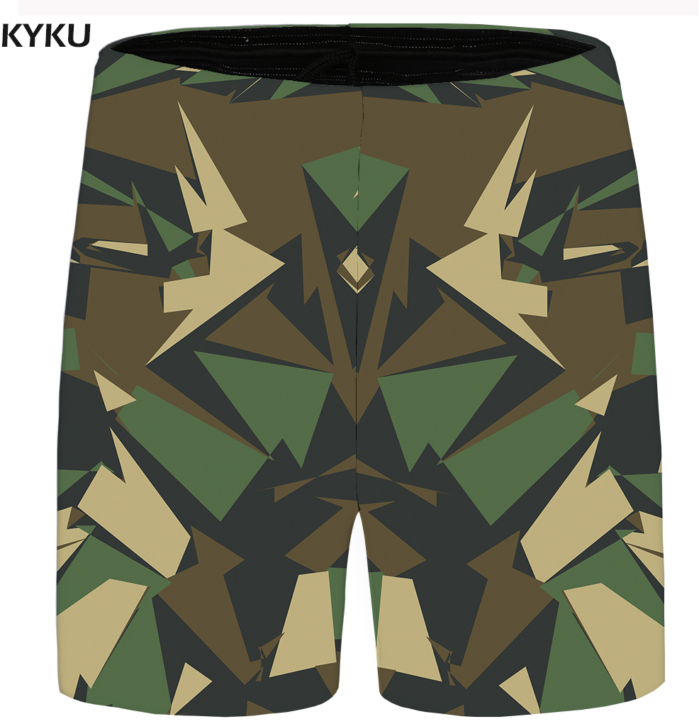 KYKU Brand Camo Shorts Men Graphic Beach Shorts Cargo Plus Size Gothic Casual Cool Anime Mens Short Pants 2018 Summer Hawaii