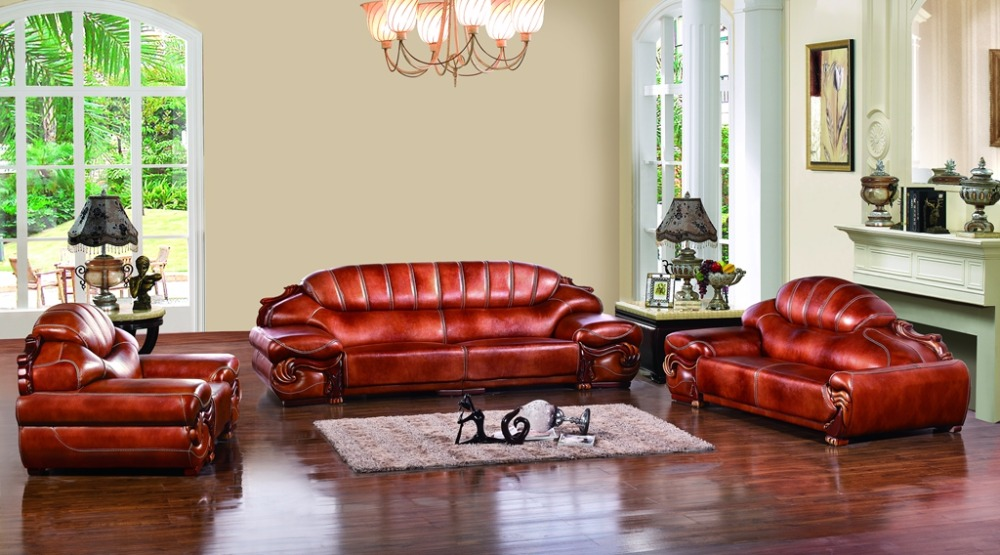 Antique European Chesterfield Sofa Set Living Room Sofa Made In China  Sectional Sofa 1+4