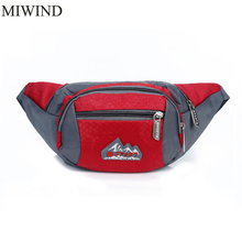 Free Shipping Waterproof Waist Pack For Men Women Casual Functional Fanny Pack Hip Money Belt Travel Mobile Phone Bag WUP105