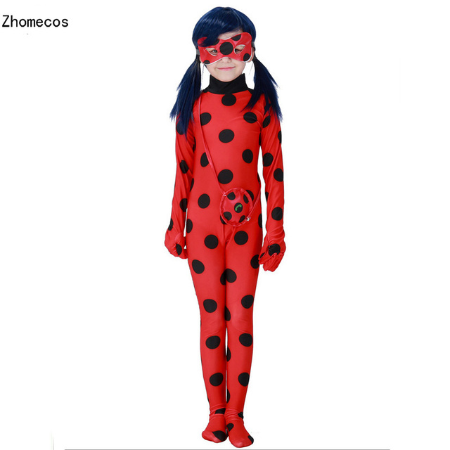 Girls Miraculous Ladybug Girl Zentai Costumes Cosplay For Kid