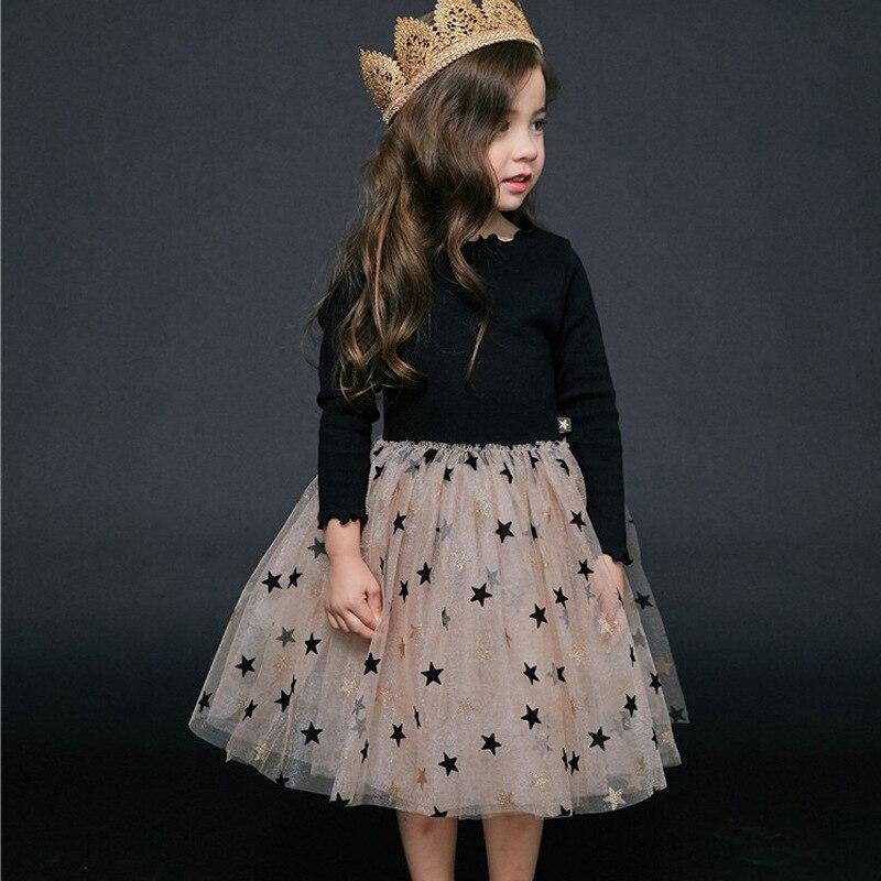 Bear Leader Girls Dress 2019 New Autumn Casual Ruffles A-Line Striped Full Sleeve Kids Dress For 3T-7T