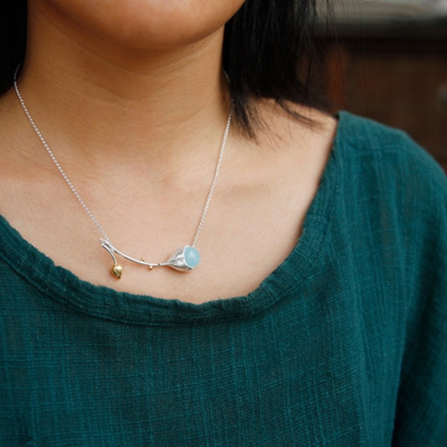 Designer Elegant Fine Jewelry Natural Aquamarine Necklace2