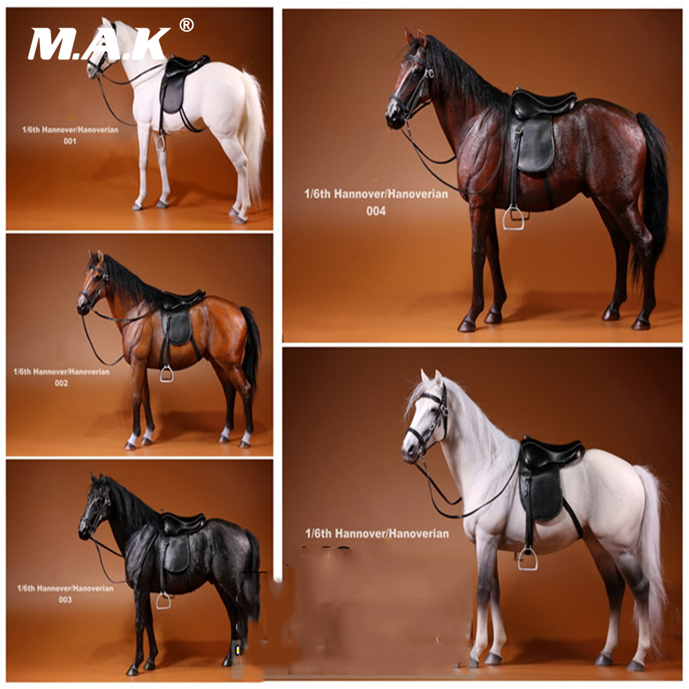 001 ~ 005 1/6 Hanoverian réaliste Animal modèle Hannover guerre cheval Animal Figure modèle jouets pour 12 pouces figurine accessoire