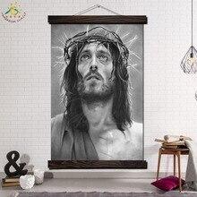 Черный и Белый Иисус Христос Современное Желание Шипы Стены Искусства Печати Поп-Арт Картина И  Лучший!