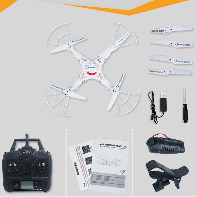 Free Shipping X5XW-1 WIFI FPV 6-Axis Gyro Real Time Transmission Quadcopter Drone RTF free shipping fpv 5 8g rc805
