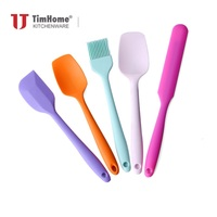 Cooking tool sets 5PCS Non-toxic Cooking Baking Kitchen Tools Utensils Silicone Scraper Brush Spade Whisk Turner