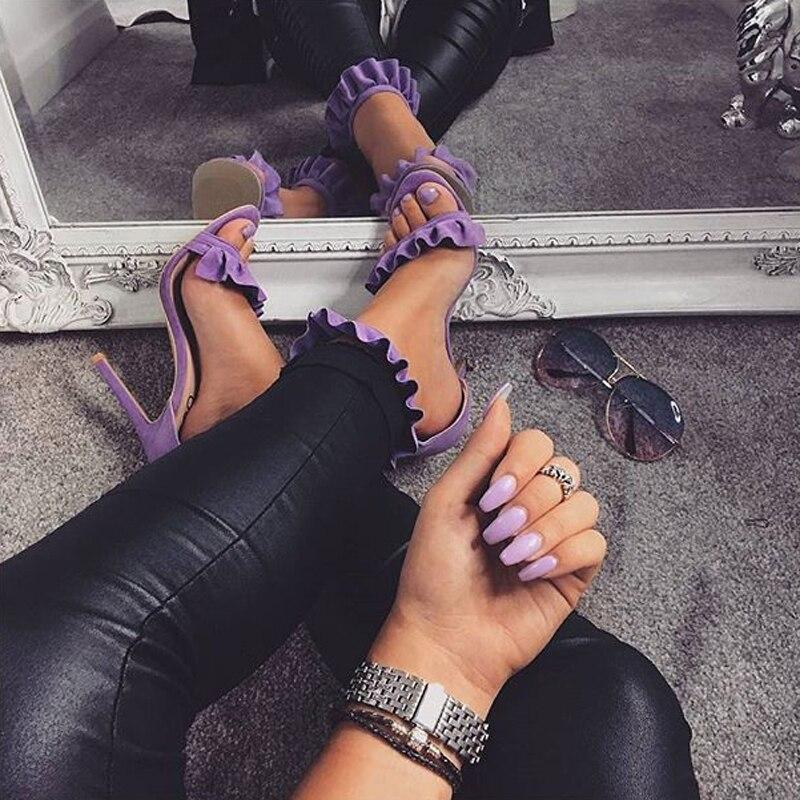 Women Sandals Buckle Ankle Strap High Heels Fashion Summer