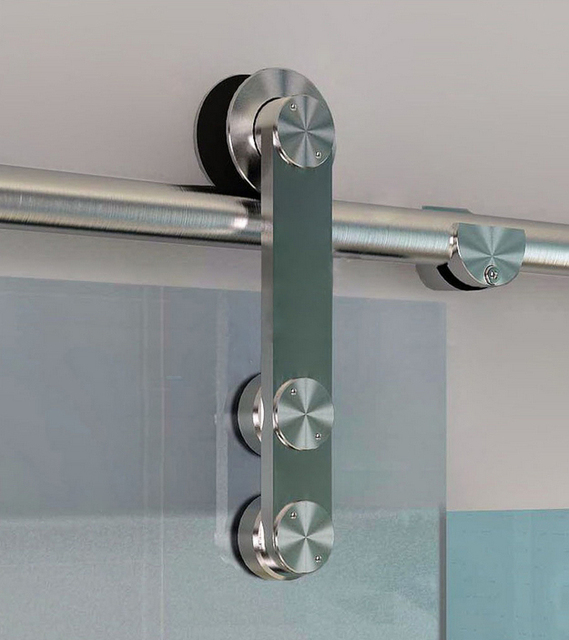 Diyhd 150cm 244cm Frameless Modern Sliding Glass Barn Door Hardware
