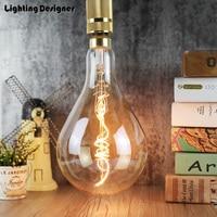 A160 PS52 big size 220V 4W Edison bulb LED lamp light amber retro saving lamp vintage filament Edison ampul light chandelier E27