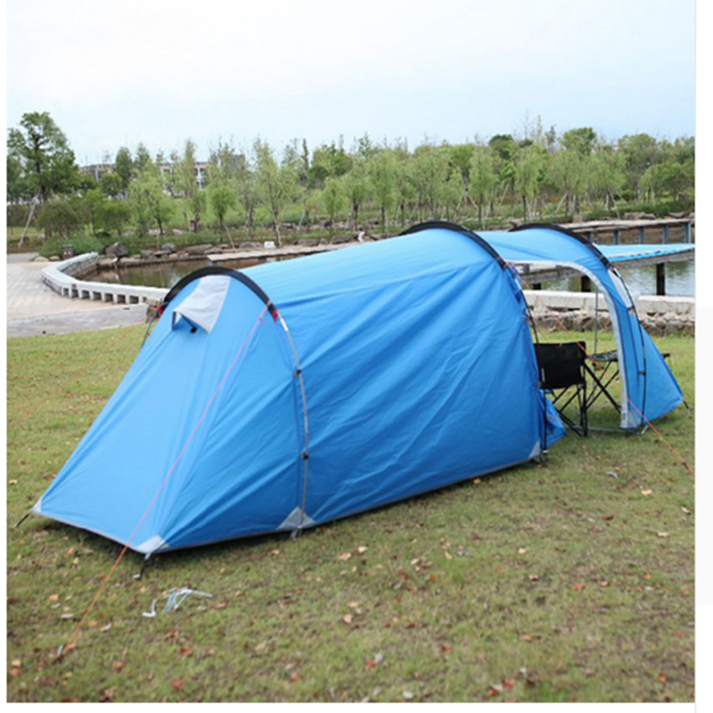 Outdoor Family Tent Tent One Bedroom & One Living Room 3-4 Person Waterproof Double Tent high quality outdoor 2 person camping tent double layer aluminum rod ultralight tent with snow skirt oneroad windsnow 2 plus