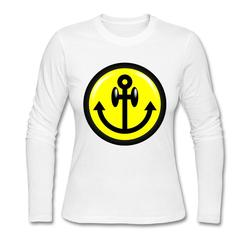 Cheap sale pre cotton anchor font b smiley b font long sleeve lady t shirtcustomizedwomen autumn.jpg 250x250
