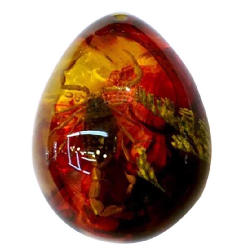 Alami Serangga Inklusi Amber Liontin Batu Permata Antik Berbentuk Drop Liontin Diy Amber Liontin Dekorasi Kerajinan