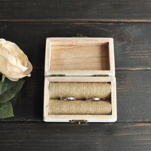 Image 3 - Personalized Wedding Ring Box, Wedding Ring Bearer Box, Wooden Ring Holder, Wedding Decor, Custom Name&Date Custom Wedding Gift