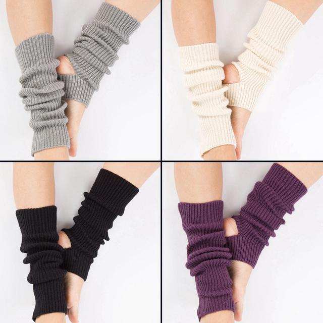 Calcetines de yoga de punto de mujer