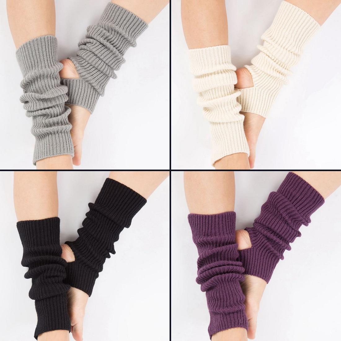 Woman Yoga Socks Gym Fitness Dancing Female Daily Wear Exercising Keep Warm Latin Dance Long Section Knitting Walking