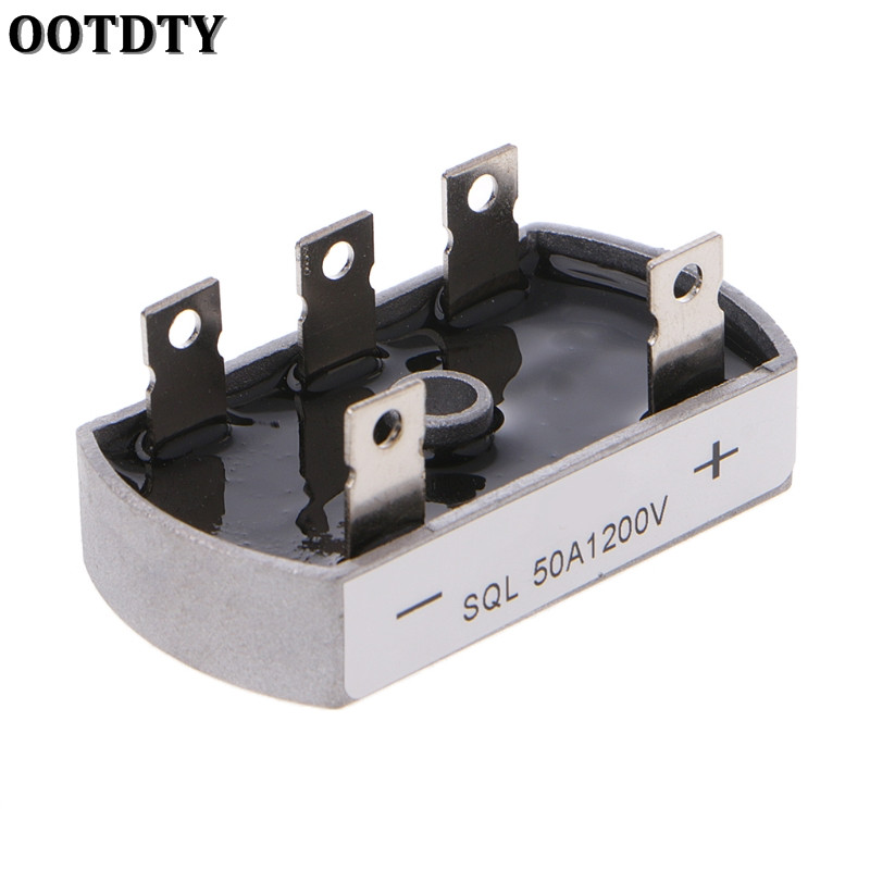 OOTDTY 50A 1200V Aluminum Metal Case 3 Phase Diode Bridge Rectifier 50Amp SQL50A ModuleOOTDTY 50A 1200V Aluminum Metal Case 3 Phase Diode Bridge Rectifier 50Amp SQL50A Module