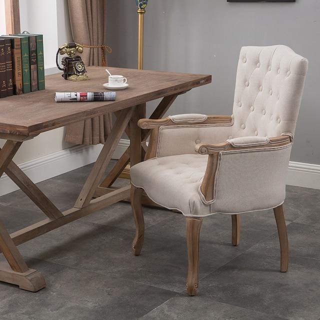 Unikalne Amerykański Dom Krzesło z Litego Drewna w stylu Retro Stary ZM17