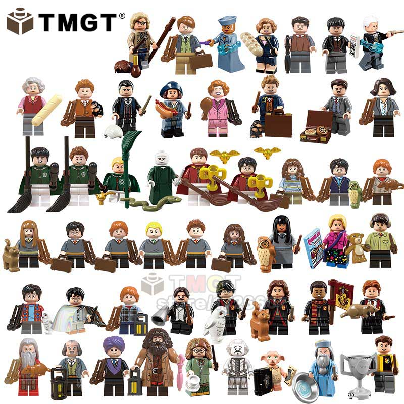50PCS SET Hermione Ron Lord Voldemort Draco Malfoy Dobby Building Blocks Toys For Children Gift