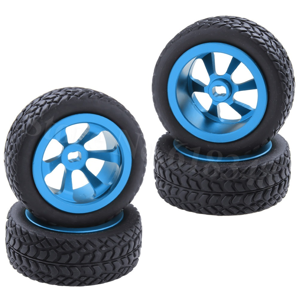4Pcs 30mm <font><b>RC</b></font> Car Tires & <font><b>Wheels</b></font> For WLtoys 1/28 K969 K989 K999 P929 4WD Short Course Drift Off Road <font><b>Rally</b></font> Upgrade Parts image