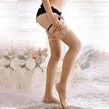 Fishnet Pantyhose Meias Mulheres Coxa Alta Lotação Brilhante Transparente Sem Emenda Ligueros Deportivas Mujer Plus Size