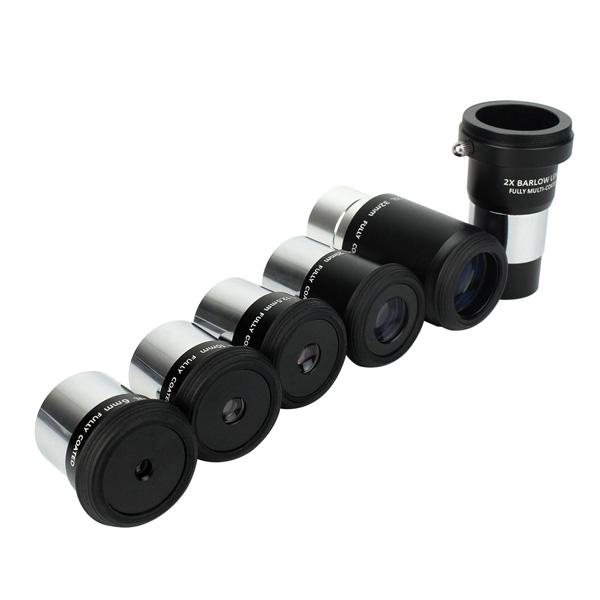1.25 Eyepiece Set PLOSSL Fully HD Coated 5 Eyepiece +2X Barlow Lens (7)
