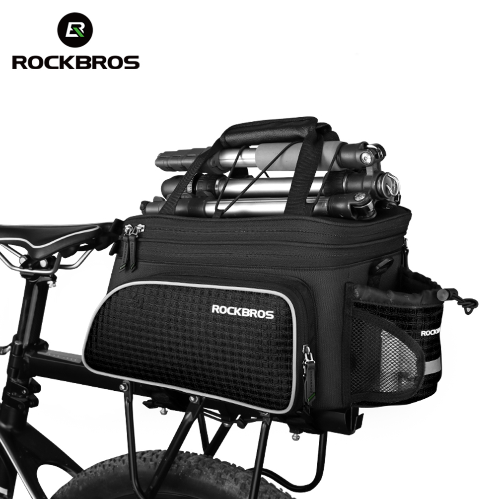 ROCKBROS Bicycle Carrier Bag Large Capacity MTB Bike Rack Bag Bike Trunk Bag Pannier Package Bicycle Accessories Bicicleta Bags rockbros large capacity bicycle camera bag rainproof cycling mtb mountain road bike rear seat travel rack bag bag accessories