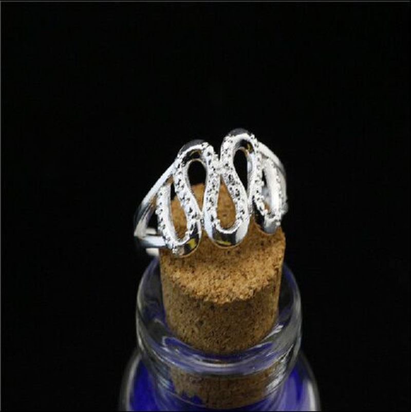 7c544e58e2c8 Envío gratis los hombres Las Mujeres 925 plata esterlina moda joyería  apertura serpiente Anillos regalo JZ 14