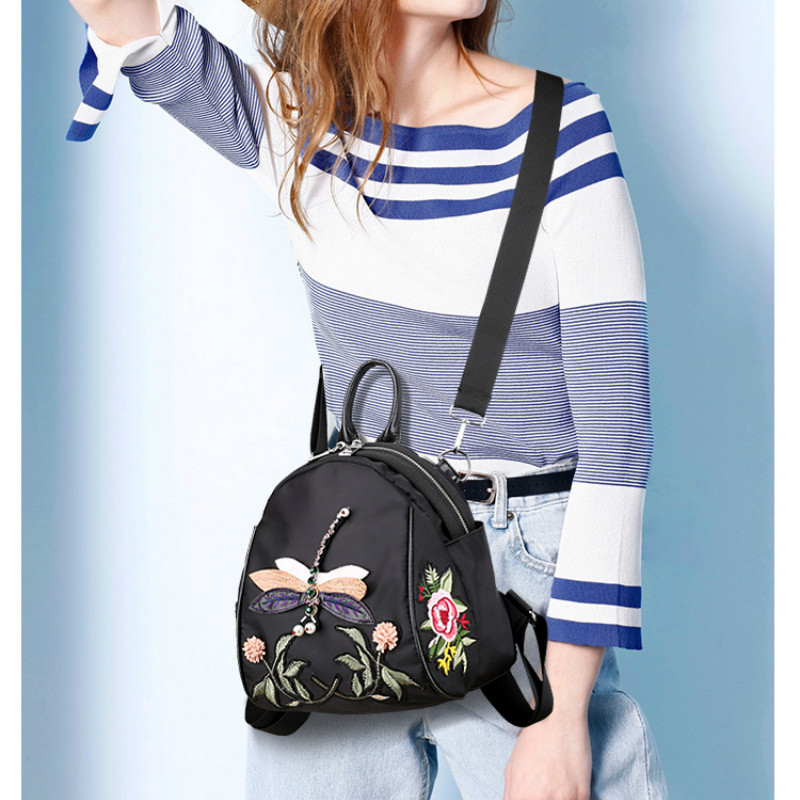2017 Summer Fashion New Brand Designer Women Cute Style Embroidery Hand Bag Small Shoulder Bag Backpack