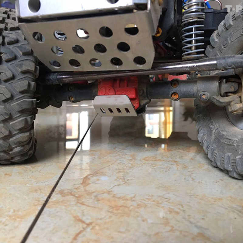 Trx4 stainless steel chassis armor protection skid plate for 1//10 rc crawlerHFJO