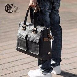 D-парк Для мужчин Сумки рука сумка 13 14 дюймов Большой Ёмкость дорожная сумка Crazy Horse кожа сумка повседневное Классическая Дизайн