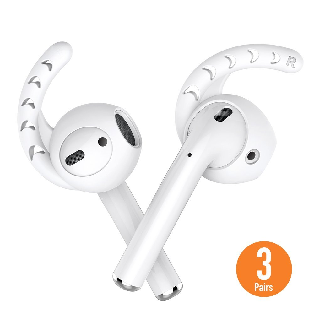 Duszake Ersatz Weichen Silikon Antislip Ohr Abdeckung Haken Earbuds Tipps Kopfhörer Silikon Fall für AirPods Apple EarPods 3 Pairs