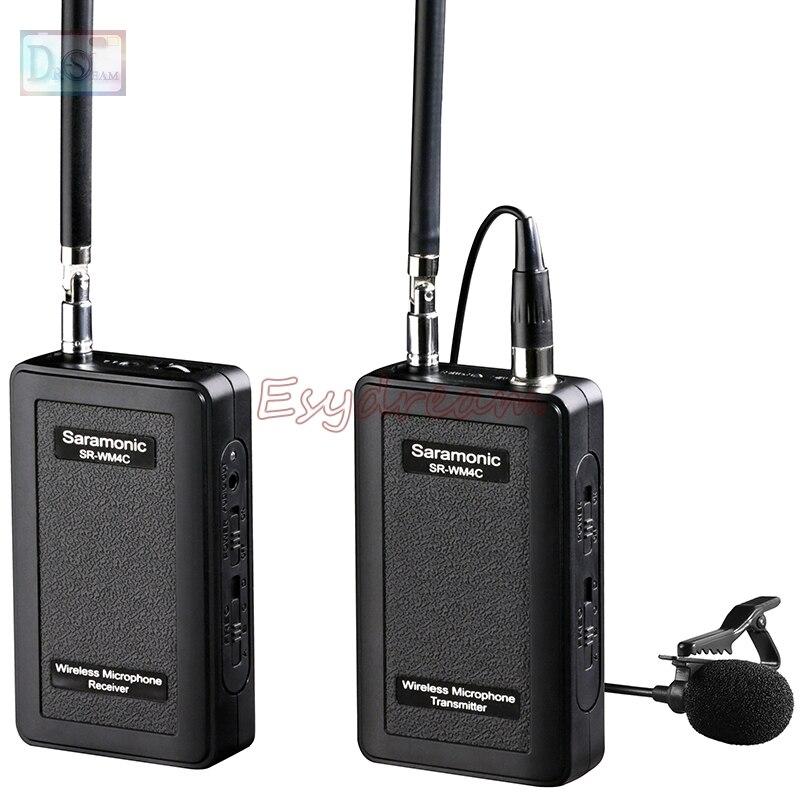 Saramonic SR-WM4C VHF Wireless Radio Lavalier Microphone System for Canon 6D 70D 5D Mark II III IV DV GoPro Hero 3 3+ 4 5 подсумок tt 3 radio цвет оливковый ii