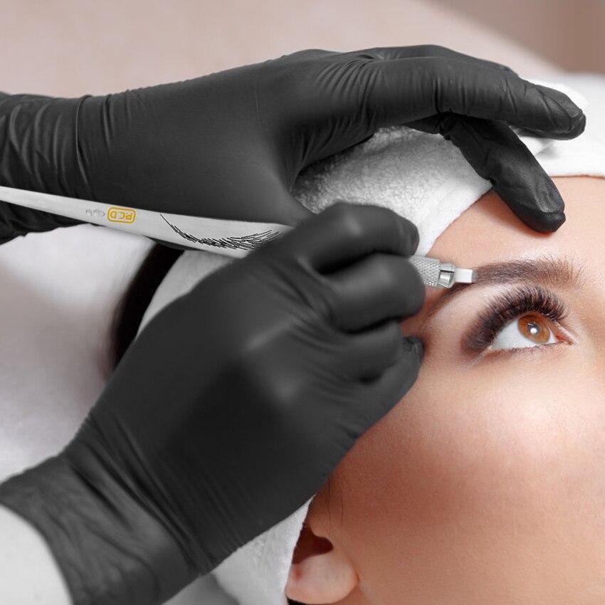 Microblading Tattoo Pen Kit Permanent Makeup Eyebrow Lip Embroidery Manual Pen With 10Pcs 12PCD Makeup Needles Tattoo Set Supply