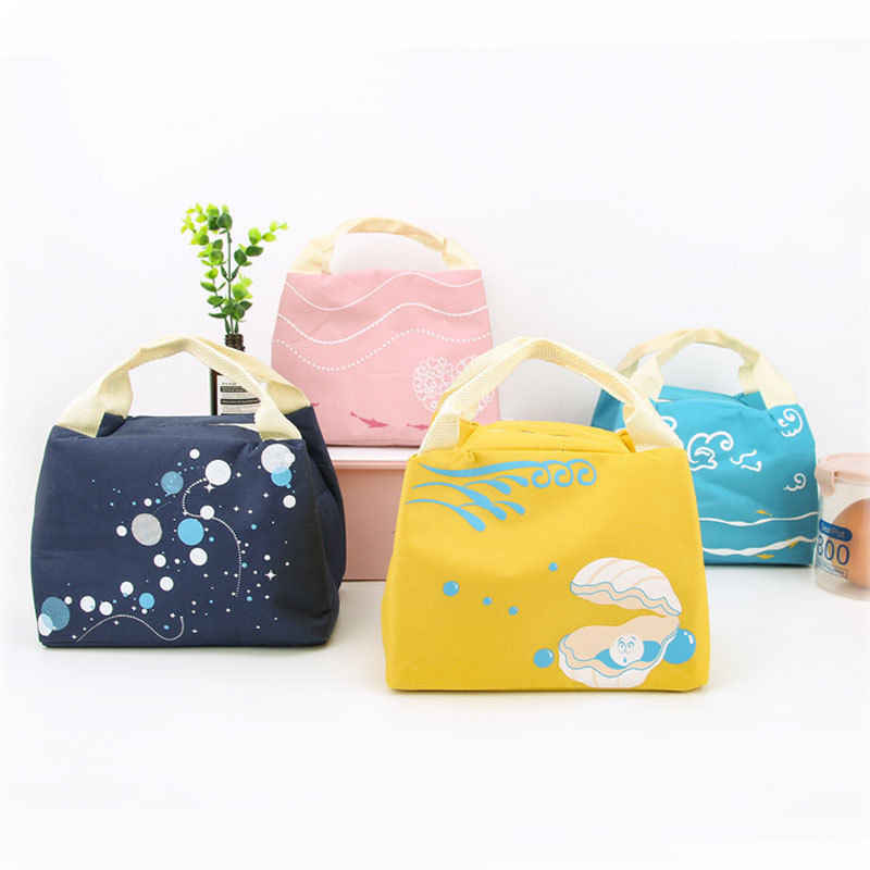 Women Portable Lunch Bag Insulated Thermal Cooler Box Carry Tote Food Picnic Bags For Women Children