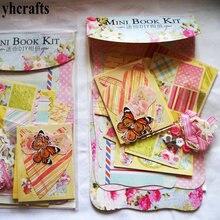 1book LOT Mini album book kit Scrapbook kit Kindergarten crafts Early educational toys Adult DIY Craft