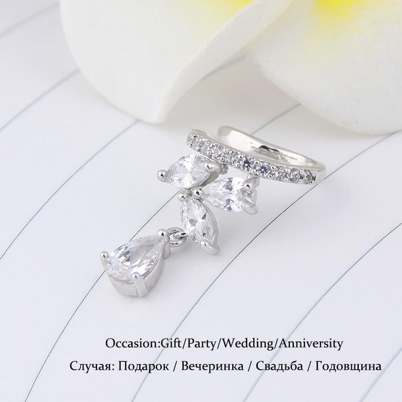 Qepje Veshmbathje Veshjet e Clip Ujit Bizhuteri Zirconia Crystal - Bizhuteri të modës - Foto 2